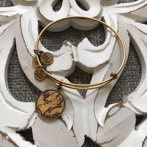 Alex & Ani Virgo Gold Tone Bracelet